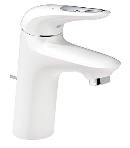 GROHE Eurostyle Badarmaturen - Einhand-Waschtischbatterie (DN 15, S-Size, Einlochmontage) moon white / chrom, 23374LS3