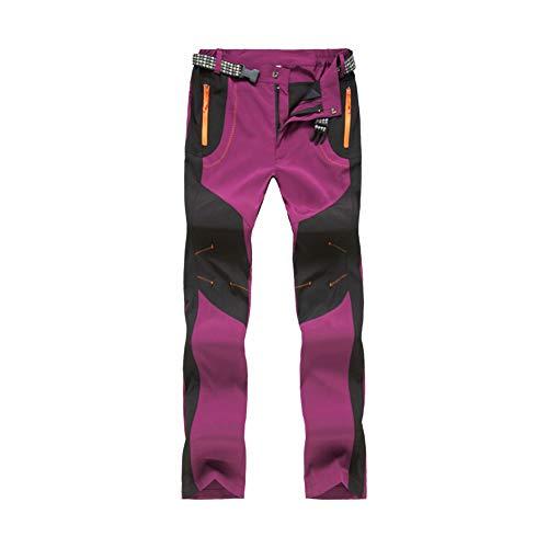 LY4U Pantalones de Senderismo al Aire Libre para Mujer Pantalones de Escalada para Caminar de Secado...