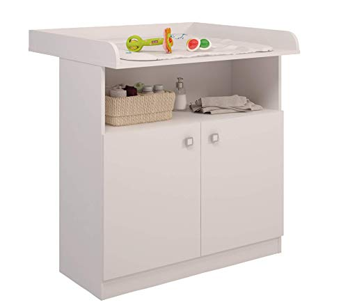 Color Blanco Polini Kids cambiador ufsatz cambiador accesorio para c/ómoda Malm IKEA de madera en diferentes colores