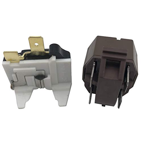 Refrigerator Compressor Relay and Overload Kit Replacement part# 4387913 - Fit for Whirlpool, Kenmore, Roper, KitchenAid, Estate, Inglis, and Crosley Replace # 2154759 4357207 4387766 4387836 586521 A