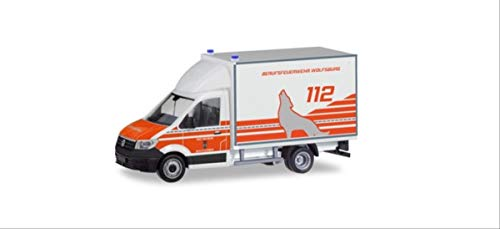 Herpa 095150 VW Crafter Box Truck Feuerwehr Wolfsburg