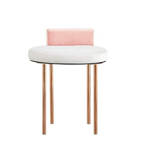 LiChaoWen Silla Minimalista nórdica Minimalista Máquinas de Acero Inoxidable Máquinas de lavabas de Taburete Taburete Taburete Vanity Chair (Color : Pink2, Size : 37x35x56cm)