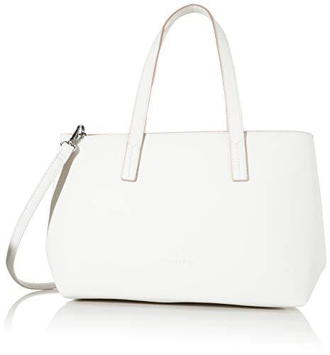 TOM TAILOR Shopper Damen, Weiß, Marla, 34x12x21 cm, Handtasche, Umhängetasche
