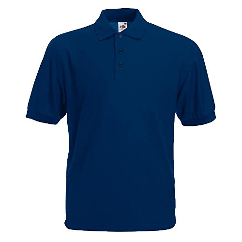 Fruit of the Loom - Piqué Poloshirt Mischgewebe '65/35 Polo' / Navy, 4XL