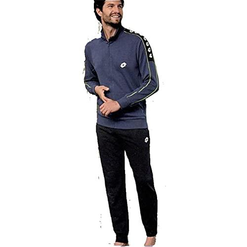 Lotto Herren-Trainingsanzug aus Sweatshirt für den Sommer, Sportanzug für Herren, weich für maximalen Komfort (6505-Jeans, M)