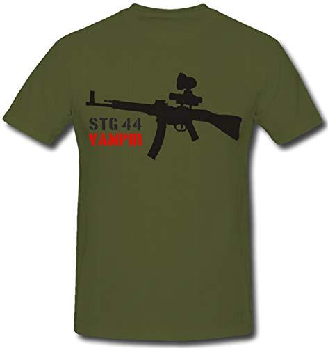 STG 44 Vampir Wk Sturmgewehr Waffen Nachtkampf Nachtsichtgerät Wh Elite Gewehr - T Shirt #471, Größe:L, Farbe:Oliv
