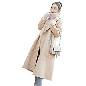 (ニカ)ラシャコート 秋 冬 レディース 上品 チェスターコート シンプル かわいい 通勤 ロングアウター 暖かい 長袖 ロングコート ロンドン風アンズの色T3