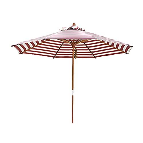Sombrilla Sombrilla de jardín redonda extra grande para patio, sombrilla de mesa para mesas de café, con 8 varillas de sombrilla resistentes, para picnics en la playa, porche, camping, balcón, barbaco