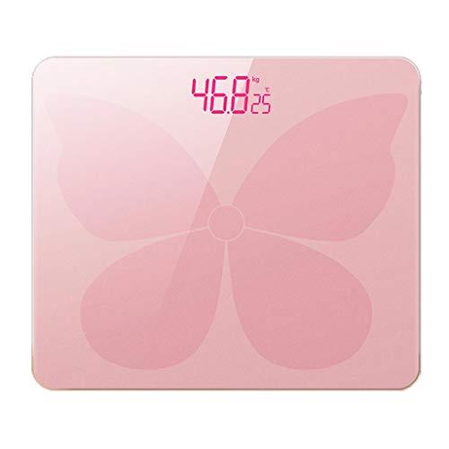 Mjd nauwkeurige vetmeting elektronische weegschaal intelligente lichaamsvetweegschaal multifunctionele huishoudweegschaal volwassenen vetweegschaal (kleur: roze)
