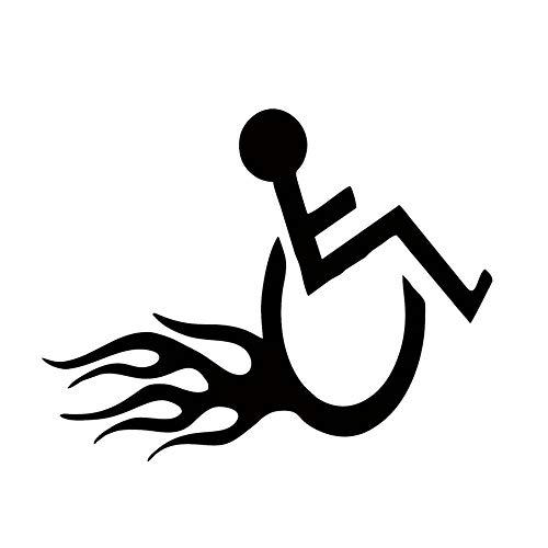 Auto Stying Rollstuhl Handicap Hot Rod Flammen Aufkleber Für Auto Fenster Lkw Stoßstange Kajak Aufkleber