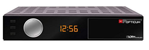 Opticum HD Sloth Combo Plus DVB S/S2/T/T2-C Digital IP Receiver mit PVR (HDTV, H.265, HEVC, HDMI, SCART, IPTV, LAN, USB) schwarz