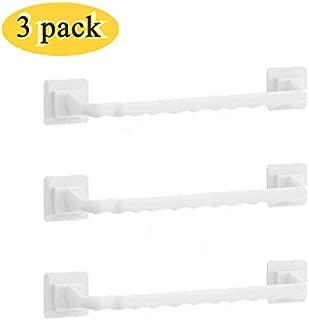 "14"" Towel Bar Single Towel Rack Towel Holder for Kitchen Bathroom Laundry Room Non-Drilling Wall Mounted Hanging Towel Holder Towel Organizer(3 PCS)"
