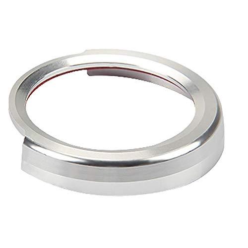 ZqiroLt Ein-Schlüssel-Startknopf-Dekor-Ring, Metallautokreis für BMW 1/2/3 / 3GT / 4 / X1-Serie Silver