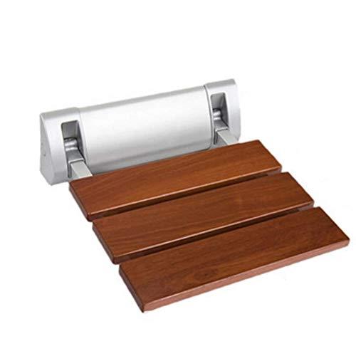 HYY-AA De pared plegable taburete de baño Ducha reemplazo Banco zapatero de madera sólida antideslizante durable plegable de baño Silla de ducha 32x32.8cm duradero