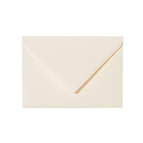 25 hochwertige Briefumschläge B6 125 x 176 mm Farbe: 01 Zartcreme mit Spitzlasche 120g, feuchtklebend, Ideal für Grußkarten, Einladungen für Geburtstag und Hochzeit