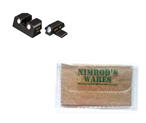 Nimrod's Wares Sig Sauer P320 .40SW .45ACP SigLite Night Sights Set Tritium SIGLITE4045 Bundle with Microfiber Cloth