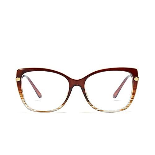 YTYASO Gafas cuadradas Transparentes a la Moda, monturas de Metal para Mujer, Gafas con Bloque de Espejo Plano, Gafas con luz antiazul para Mujer