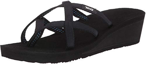 Teva Women's W Mush Mandalyn Wedge Ola 2 Flip-Flop, Black, 10 M US