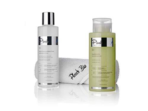 Luxury BIO Cosmetics - Werbeartikel 2 mit grüner Mandarine + Plüschtuchgeschenk = Entfernercreme (300 ml) + Wassermizelle & Tonikum (250 ml)