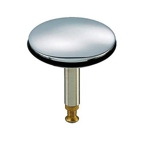 Abflussstopfen aus Messing hartverchromt & höhenverstellbar Verschlussstopfen Ablaufstopfen mit Hubstange für Spüle, Dusche, Badewanne Ø 43,8 mm