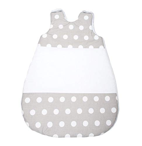 Vizaro - Saco de Dormir Bebé Recién Nacido (0-4 meses) 100g - 2,5Tog - Invierno, Entretiempo - 100% Algodón - Hecho UE, OekoTex - Lunares