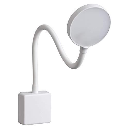 SEBSON LED Steckdosenlampe dimmbar weiß, Leuchte für die Steckdose 4W, Steckerleuchte mit Schwanenhals flexibel neutralweiß 4000K - Leselampe, Nachtlicht