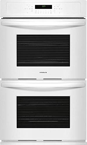 Frigidaire FFET2726TW 27 Inch 7.6 cu. ft. Total Capacity Electric Double Wall Oven with 2 Oven Racks, Sabbath Mode, in White