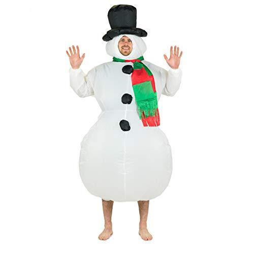 Bodysocks® Disfraz Hinchable de Muñeco de Nieve Adulto