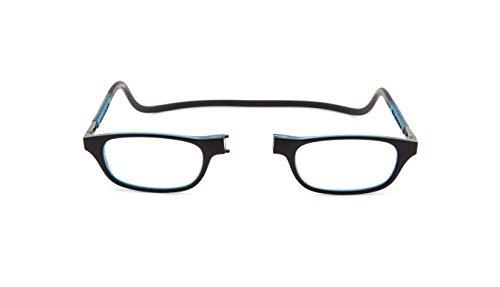 Nuovo Slastik Magnetico Clic Stile Occhiali da Lettura Montatura Leia 009 Potenza ottica +2.50 con custodia morbida