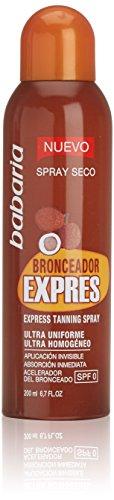 Babaria Bronceador Express Vaporizador SPF0 Protector Solar - 200 ml