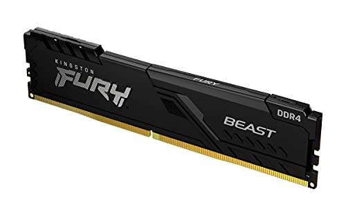 KF426C16BB/8 - Memória de 8GB DIMM DDR4 2666Mhz FURY Beast Black 1,2V 1Rx8 288 pinos para desktop/gamers