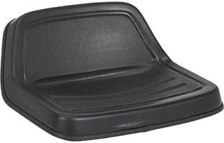 Michigan Midback Universal Lawn Mower Seat - Black, Model Number V-350