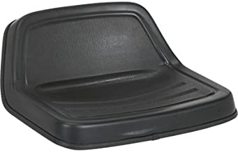 Michigan Midback Universal Lawn Mower Seat - Black, Model Number V-350