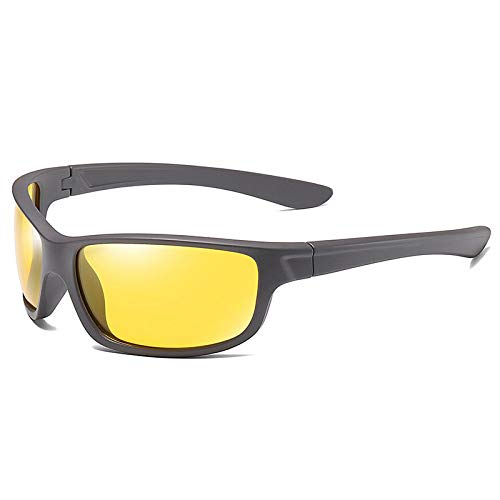 Gafas De Sol,Gafas de sol deportivas polarizadas para hombre, montura completa, a prueba de viento, arena, gafas de sol, al aire libre, montañismo, ciclismo, arena, gris claro/caña C166