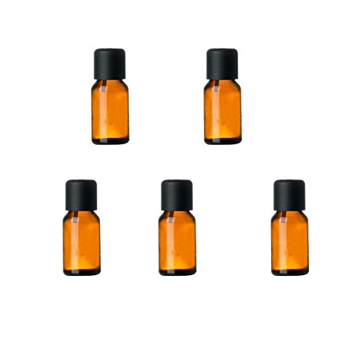 15ml Verre Bouteille Rechargeables Capping Huile essentielle Container (5 PCS)