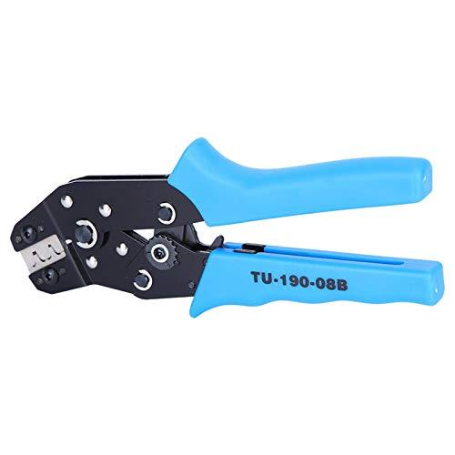 Herramienta de prensado manual terminal anticorrosión Alicates de trinquete de corte de alta gama Crimper de trinquete mango de PVC para electricista (TU-190-08B)