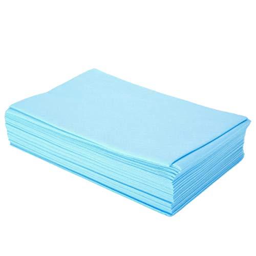 Tamkyo 100Pz / Set Lenzuolini Monouso per Lettini da Massaggio Non Tessuti Monouso, 80X180 Cm, Blu