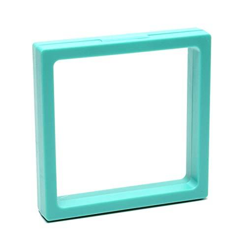 Warring States 5PCS 3D Floating Display Cabinet Stehender Stand Anhänger Halskette Anhänger Armband Ring Münzstift Pfau Blau