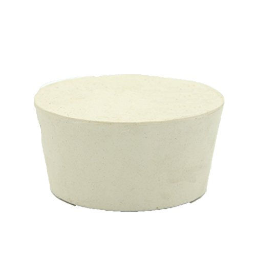 Tapón de goma cónico AngelaKerry #15 - 20# frasco tubo de ensayo enchufe tapones de laboratorio tapón blanco, #15