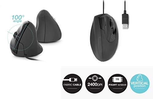 Urban Factory Crazy Mouse USB 800 dpi - Black