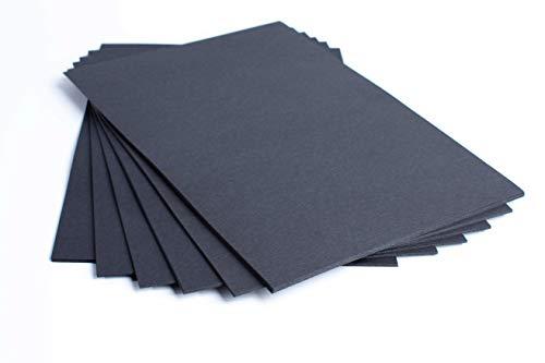 Tarjetas negras tamaño A2 de papel de 220 g/m², paquete de 50 hojas, de la marca House of Card & Paper