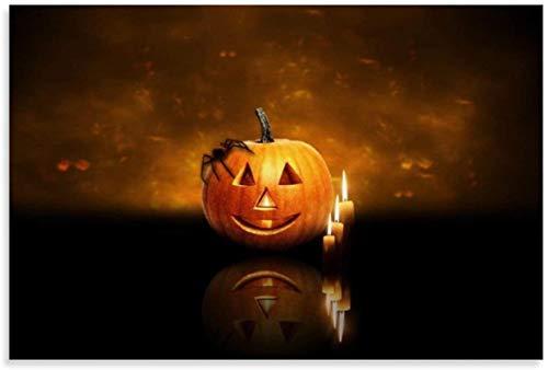 Lienzo Pintura Al óLeo Feliz Halloween en el Cielo y decoración de Dormitorio con Imagen Poster Y Estampados Arte Cuadros 15.7'x23.6'(40x60cm)Sin Marco