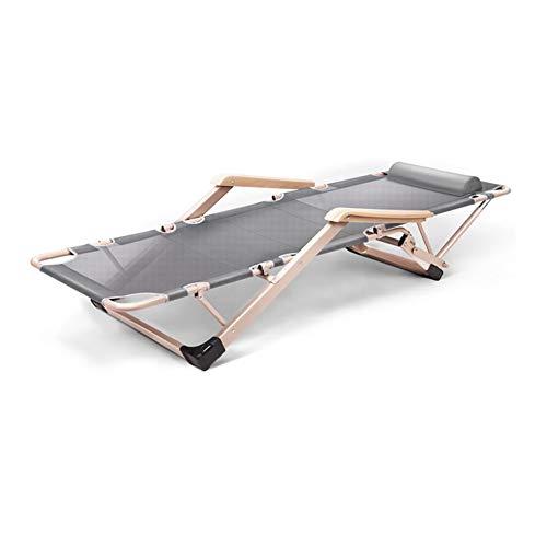 Cylficl Tumbona reclinable Cama Plegable Silla de relajación Jardín Exterior Múltiples Posiciones Ajustable (Color : Gray 1)