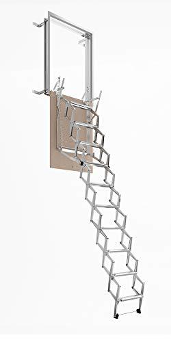 Escalera Escamotable Pared retráctil manual de pared, varios tamaños, escalera, lado 70