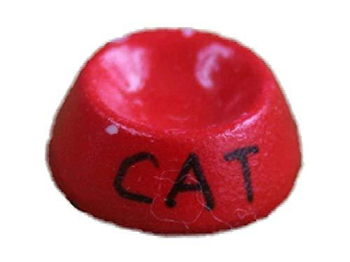 Melody Jane Maison De Poupées Miniature 1:12 Échelle Animal De Compagnie Accessoire Rouge Nourriture De Chat Bol Bol À Eau