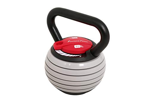 FunctionalFitness Cast Iron Adjustable Kettlebell - 18kg