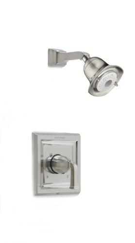American Standard Town - Kit de ducha cuadrada con cabezal de ducha de 3 funciones, T555527.295