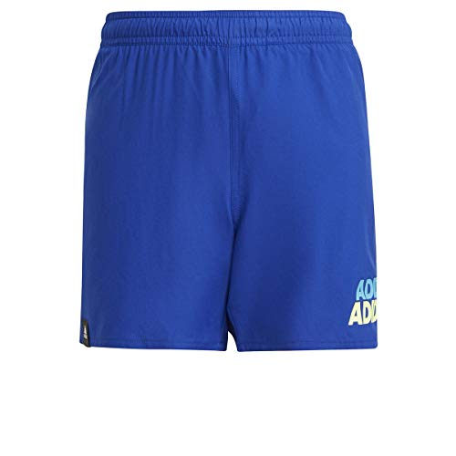 adidas Yb Lin Shorts Unisex Baby Badeanzug, Unisex Baby, Schwimm-Slips, GN5898, Azur/Amalre, 5 años