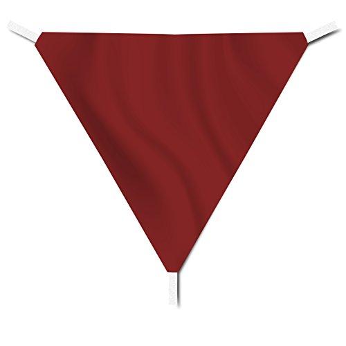 EGLEMTEK Tenda Parasole Triangolare a Vela Telo da Sole da Esterno - Protezione dai Raggi UV - Tessuto in Polietilene Resistente e Impermeabile - Colore Amaranto (5x5x5 m)