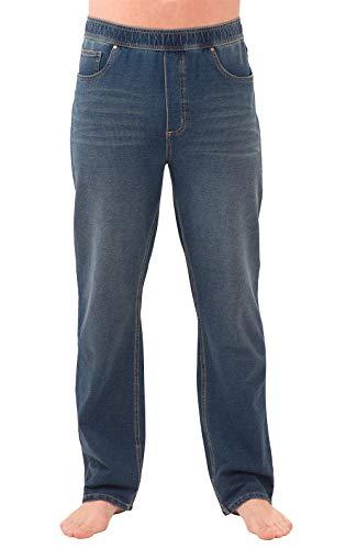 PajamaJeans Men Elastic Waist Pants - Mens Jeans Stretch Denim, Vintage Wash XXL